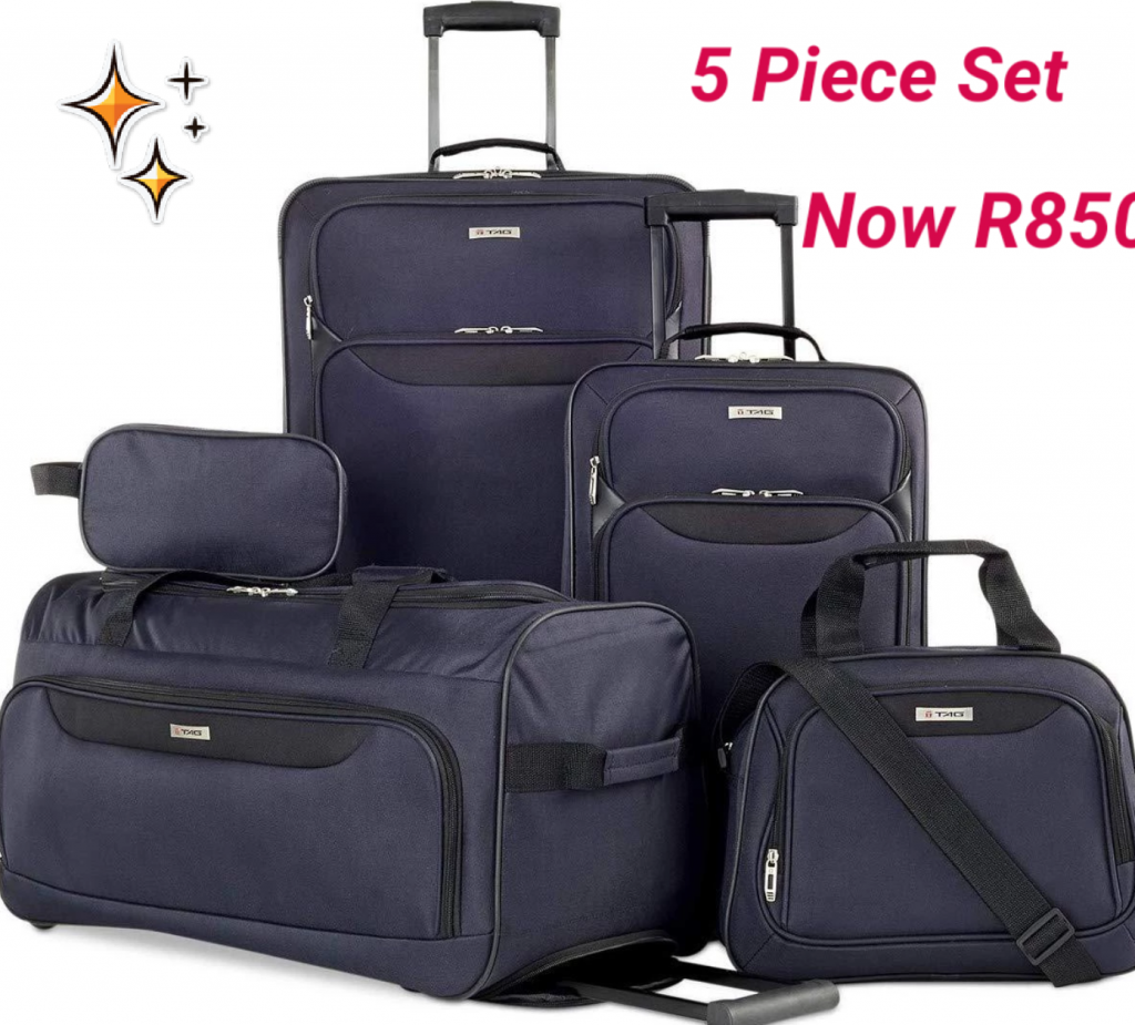 BCS Navy Five Piece Luggage Set