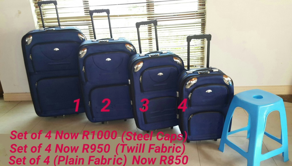 Luggage set that includes four bags