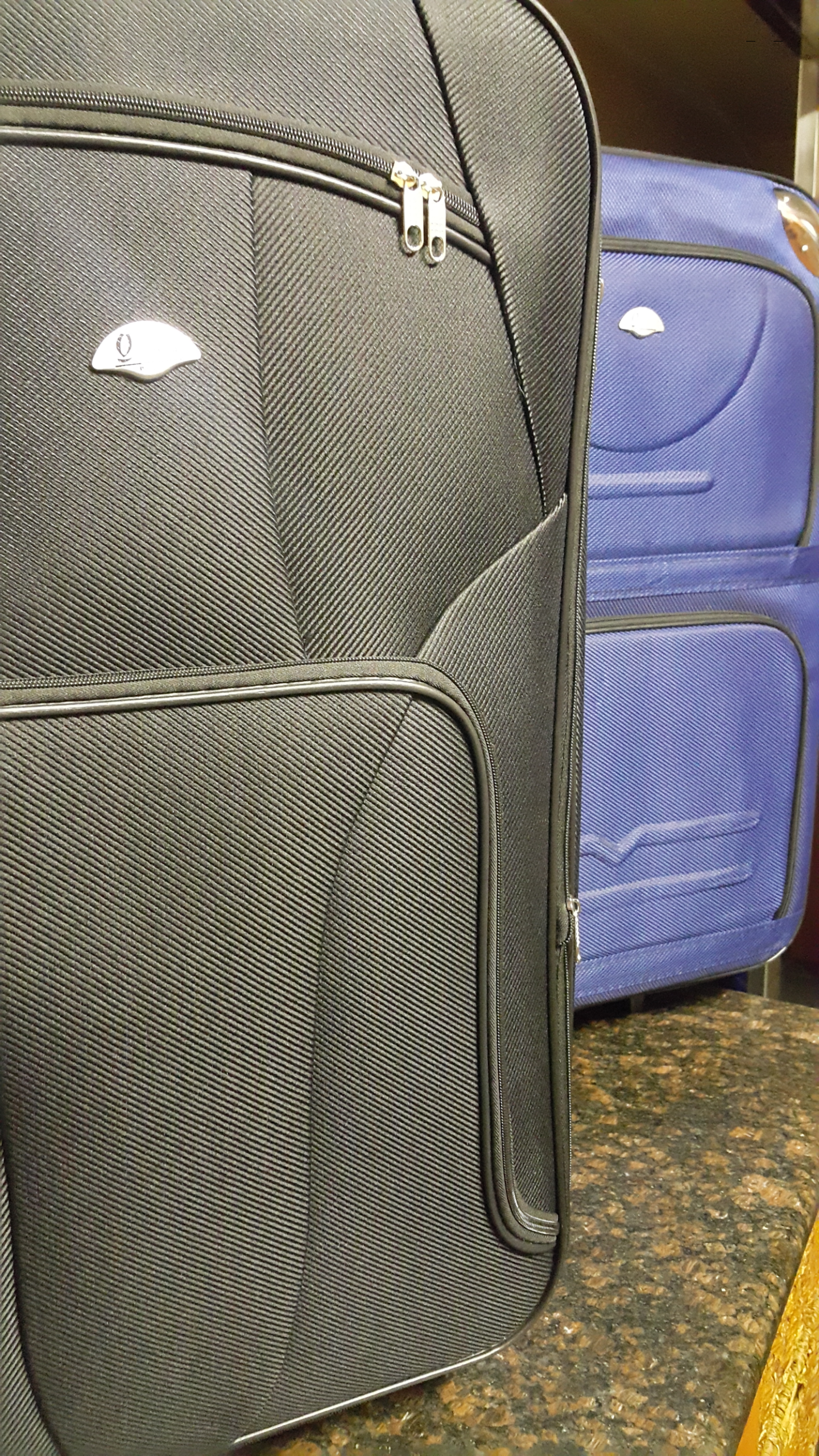 Close Up Pictures of our Upmarket Denier Fabrics Used on our Exclusive Travel Sets